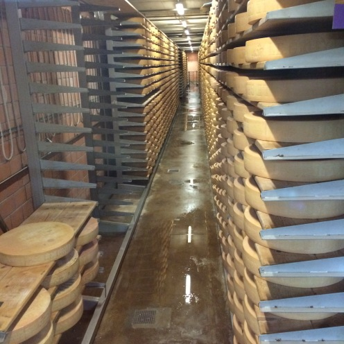 Cheese caves for aging Gruyere